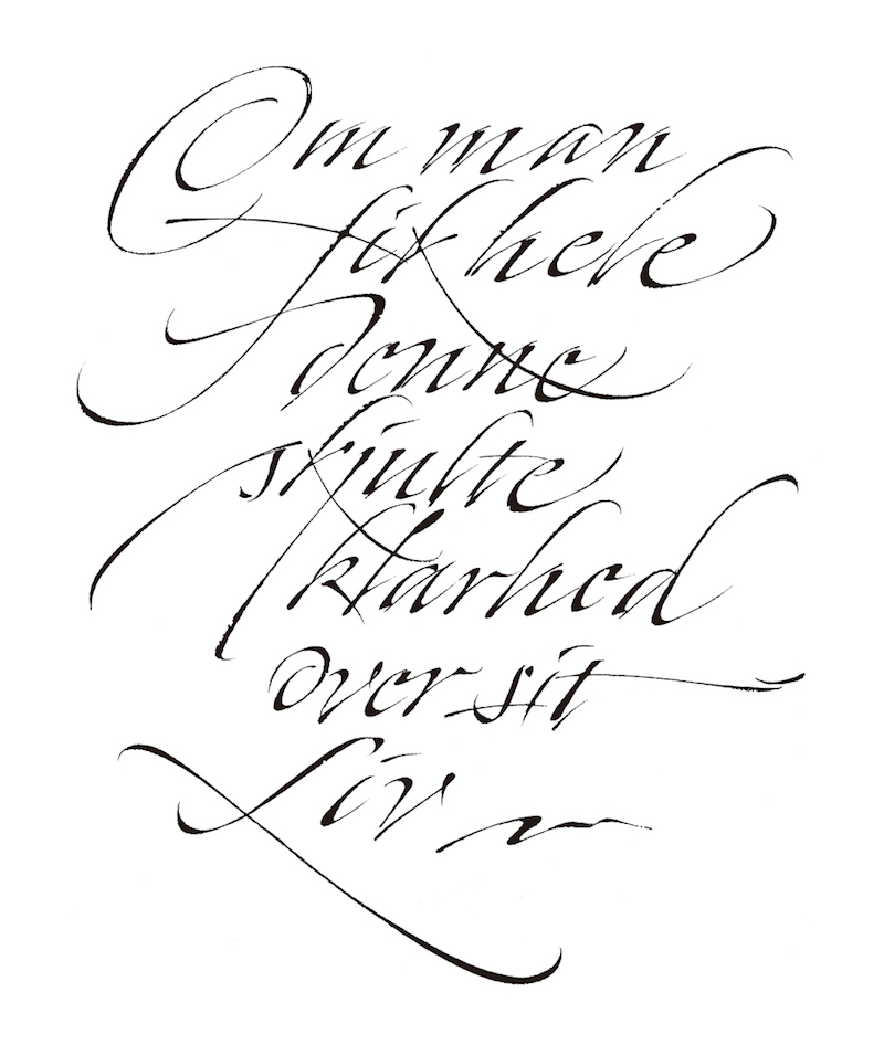 Calligraphy In The Cold By Christopher Haanes Part 1